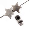 Metal Bead Small Star Antique Silver